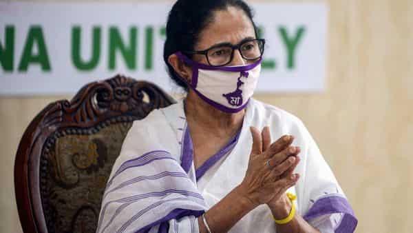 West Bengal Chief Minister Mamata Banerjee addresses a press conference at Nabanna (State Secretariat) in Kolkata on Monday (PTI)