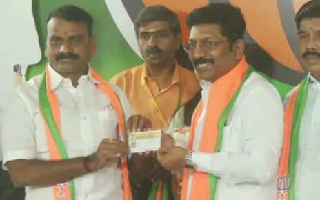 DMK MLA P Saravanan joined the BJP today. (ANI)