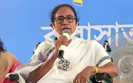 West Bengal chief minister Mamata Banerjee addresses a public rally, at Barasat, in North 24 Parganas. (File photo) (HT_PRINT)