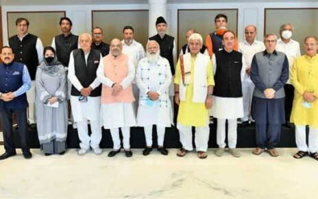 PM Modi is chairing an all-party meeting with various political leaders from Jammu and Kashmir.