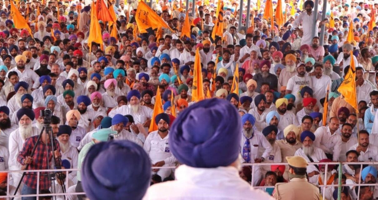 Punjab Police Use Water Cannon to Disperse Farmers Trying to March Inside SAD Event