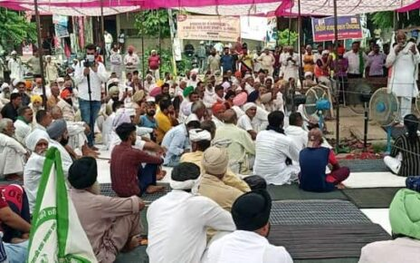 Haryana Police had on August 28 conducted a lathi-charge on protesting farmers near the Bastar toll plaza in Karnal (ANI)