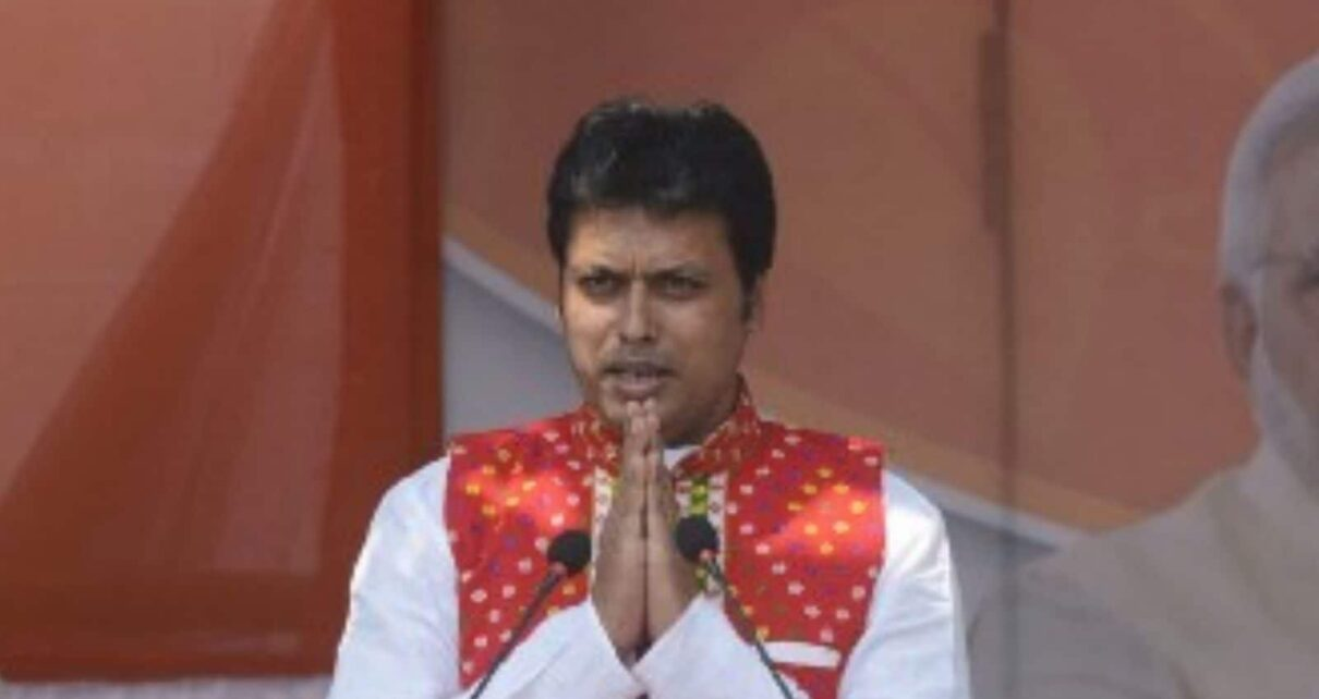 Tripura CM Revisits His Old Town — Controversy